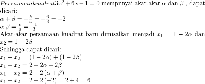 Materi Persamaan Kuadrat - Rumus, Akar, & Contoh Soal 20