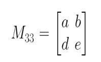 mencari determinan m33