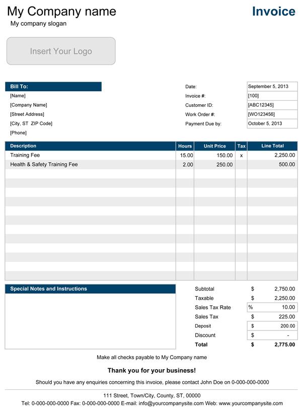Contoh Invoice Perorangan ke Perusahaan 3