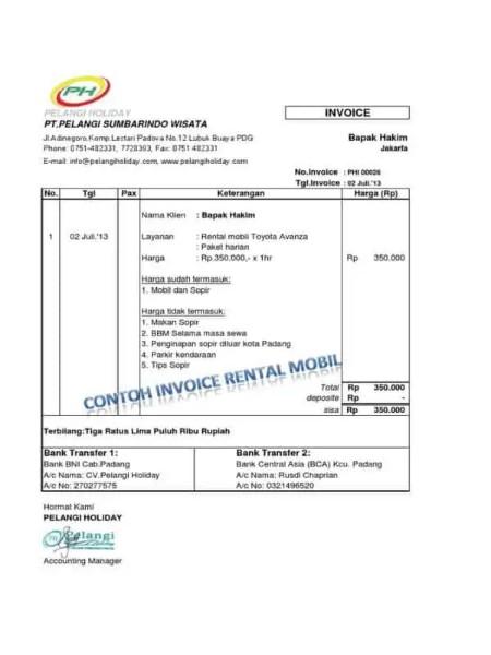 Contoh Invoice Perorangan ke Perusahaan 10
