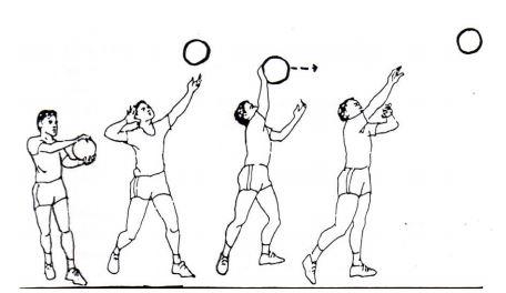 servis bola voli mengapung