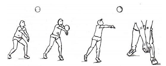 passing bola voli bawah