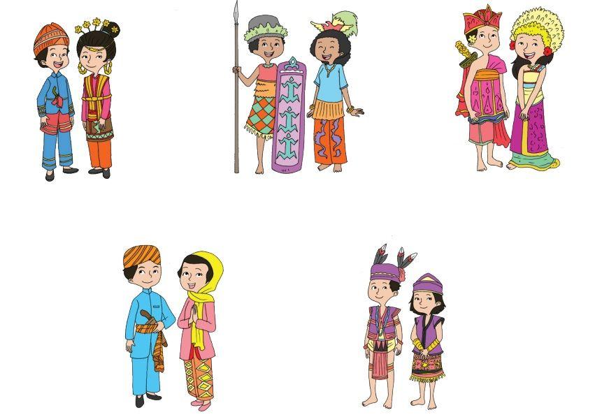 Ilustrasi Keragaman Budaya Indonesia